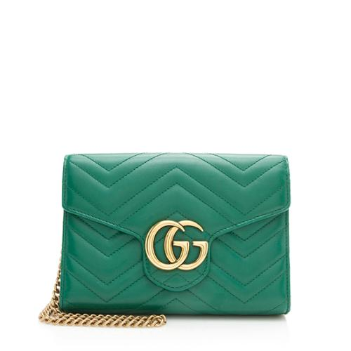 Gucci Matelasse Leather GG Marmont Mini Bag