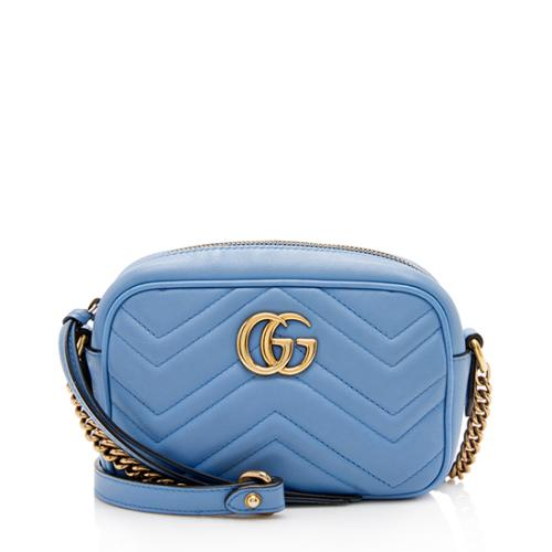 0448c7138c0d4 Gucci Matelasse Leather GG Marmont Mini Bag