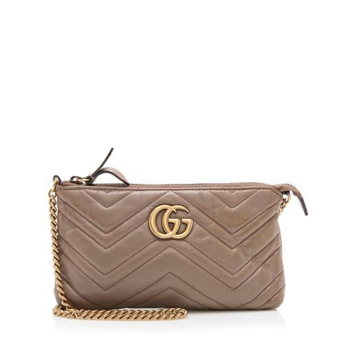 Gucci Matelasse Leather GG Marmont Mini Chain Bag - FINAL SALE