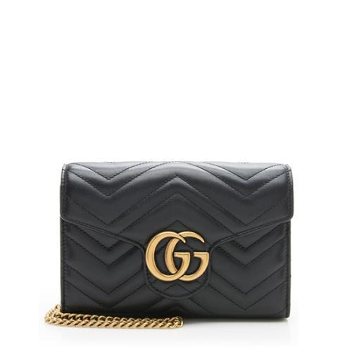 Gucci Matelasse Leather GG Marmont Mini Chain Bag