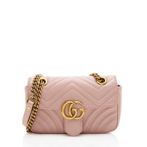 Gucci Matelasse Leather GG Marmont Mini Shoulder Bag