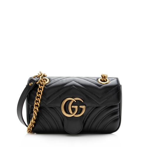 Gucci Matelasse Leather GG Marmont Mini Shoulder Bag