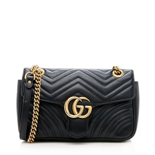 Gucci Matelasse Leather GG Marmont Small Bag