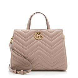 Gucci Matelasse Leather GG Marmont Small Satchel