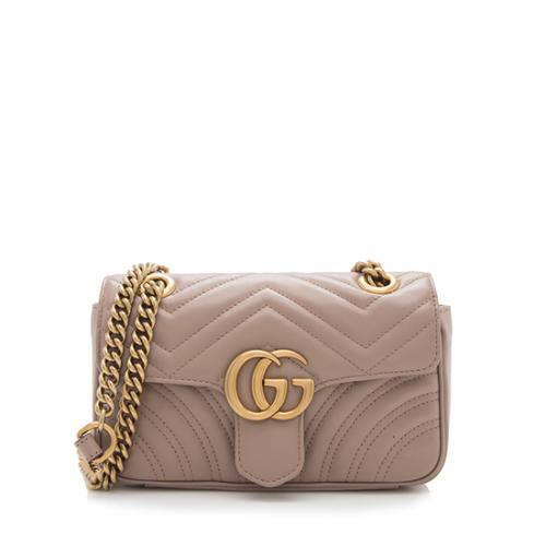 Gucci Matelasse Leather GG Marmont Small Shoulder Bag