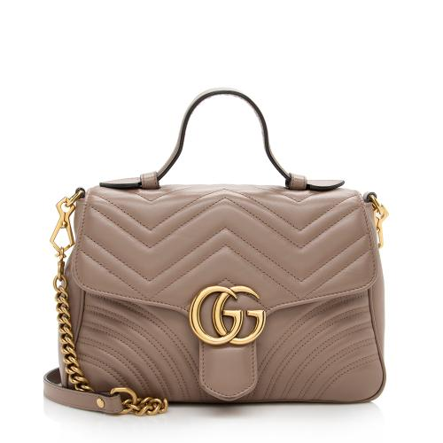 Gucci Matelasse Leather GG Marmont Small Top Handle Bag - FINAL SALE