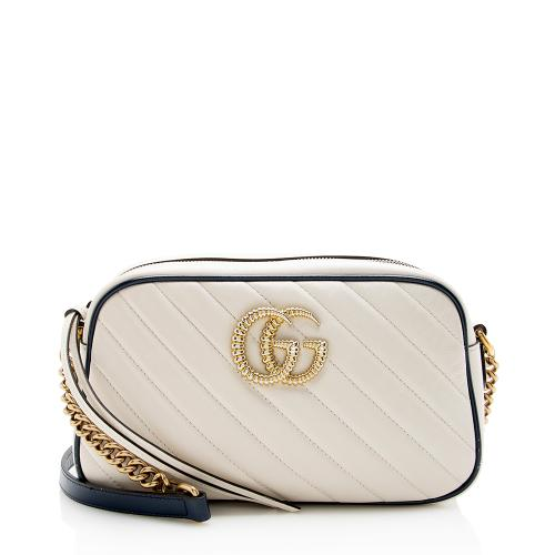 Gucci Matelasse Leather GG Marmont Small Torchon Shoulder Bag