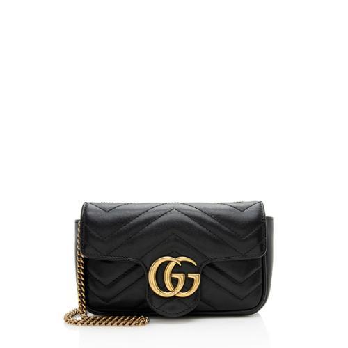 Gucci Matelasse Leather GG Marmont Super Mini Bag