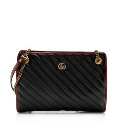 Gucci Matelasse Leather Torchon GG Marmont Chain Tote