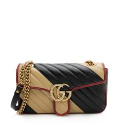 Gucci Matelasse Leather Torchon GG Marmont Small Shoulder Bag