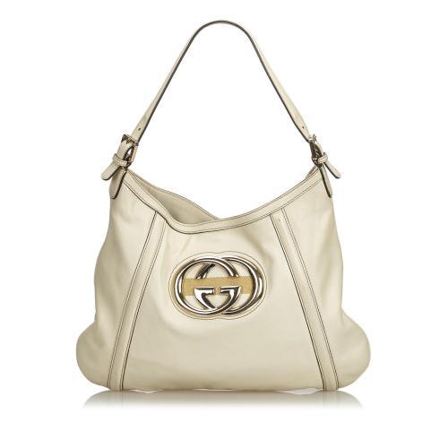 828bbf24189b Gucci Leather Britt Medium Hobo -FINAL SALE