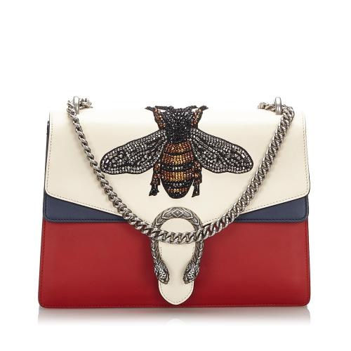 Gucci Embellished Bee Dionysus Medium Shoulder Bag