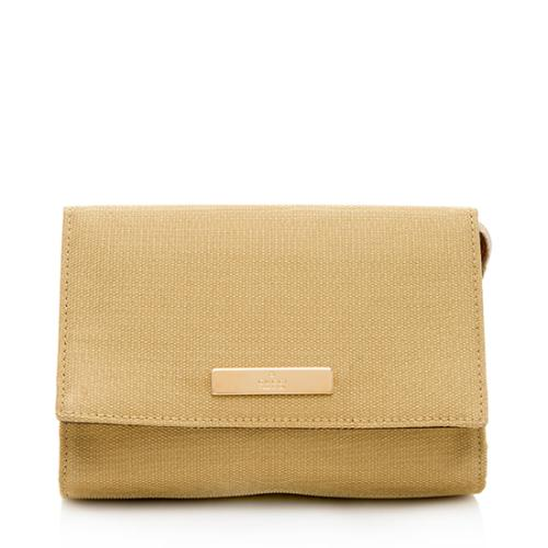 Gucci Metallic Canvas Small Clutch