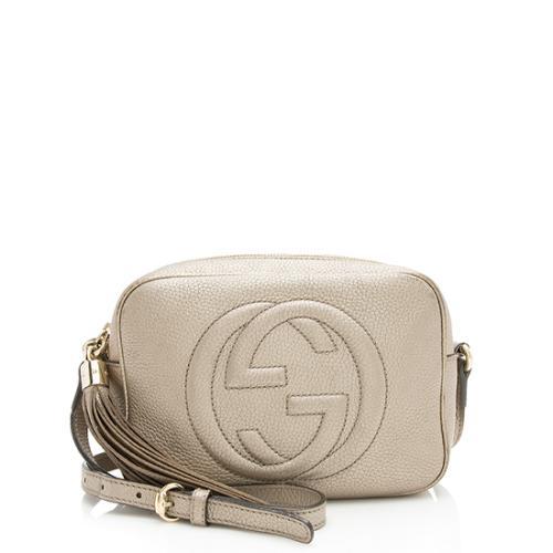 e3cc3cdbba8f4d Gucci Metallic Leather Soho Disco Bag - FINAL SALE
