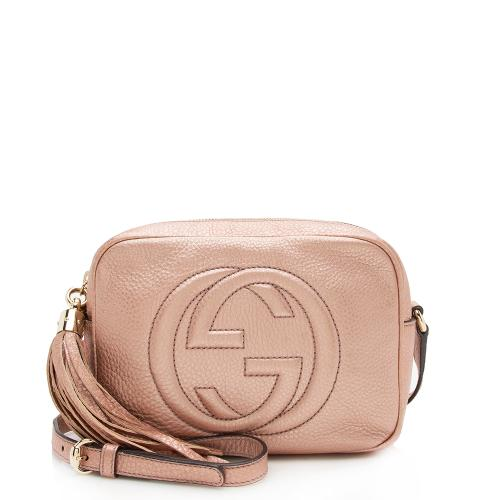 Gucci Metallic Leather Soho Disco Bag