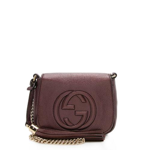 Gucci Metallic Leather Soho Small Chain Bag
