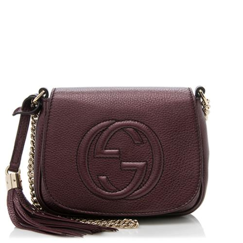 Gucci Metallic Leather Soho Small Chain Bag