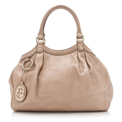 Gucci Metallic Leather Sukey Medium Tote