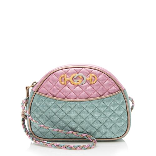 Gucci Metallic Leather Trapuntata Mini Bag
