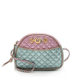 Gucci Metallic Leather Trapuntata Mini Bag