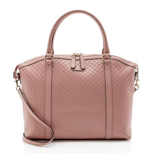 Gucci Microguccissima Leather Dome Large Satchel