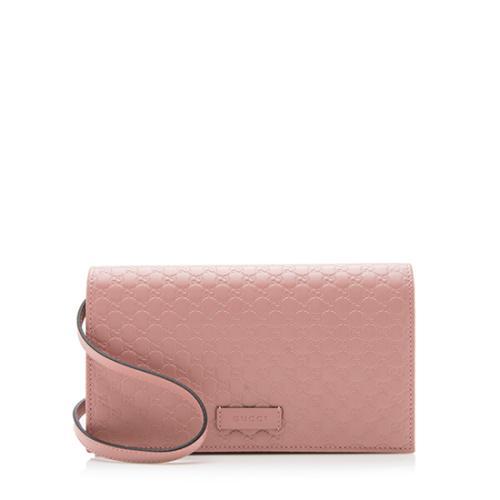 Gucci Microguccissima Leather Wallet Crossbody Bag