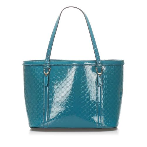 Gucci Microguccissima Patent Leather Nice Tote Bag