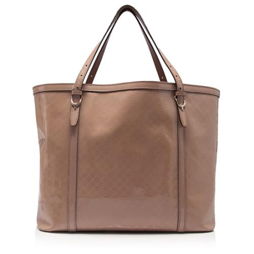 Gucci Patent Leather Microguccissima Nice Tote - FINAL SALE
