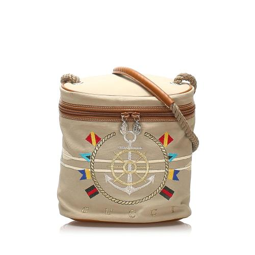 Gucci Nautical Canvas Bucket Bag