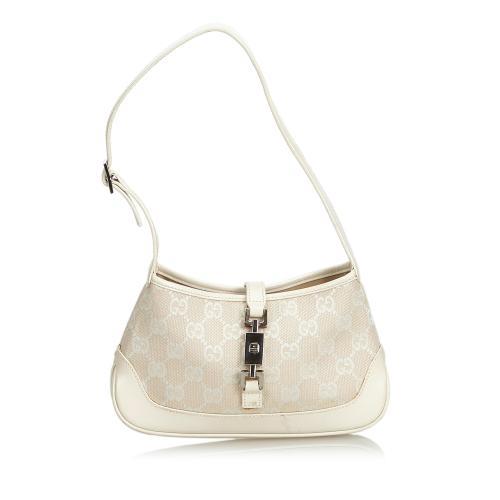Gucci New Jackie Jacquard Shoulder Bag