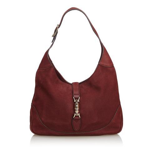 Gucci Nubuck Leather New Jackie Shoulder Bag