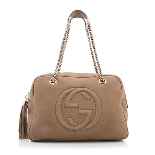 Gucci Nubuck Leather Soho Chain Shoulder Bag