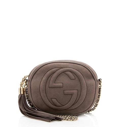 Gucci Nubuck Soho Mini Chain Bag