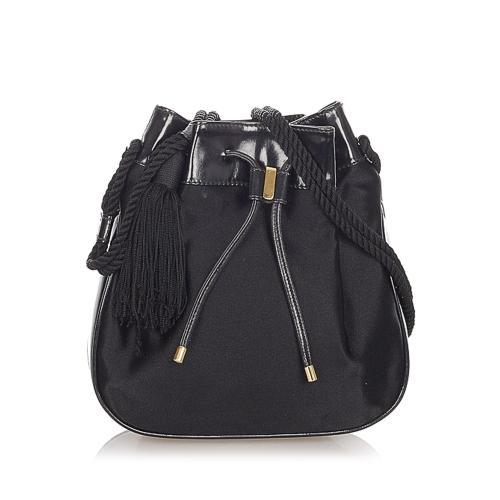 Gucci Nylon Drawstring Shoulder Bag
