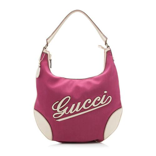 Gucci Nylon Leather Boulevard Hobo