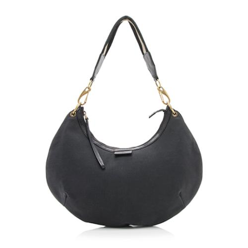 Gucci Nylon Leather Web Hobo
