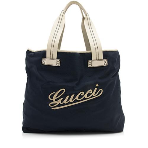 Gucci Nylon Logo Tote