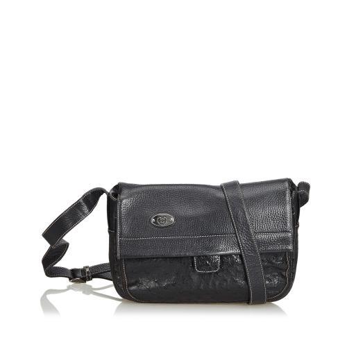 Gucci Ostrich Leather Crossbody Bag