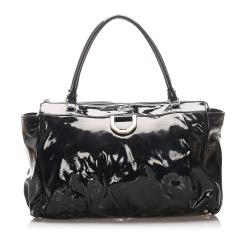 Gucci Patent Leather Abbey D-Ring Satchel