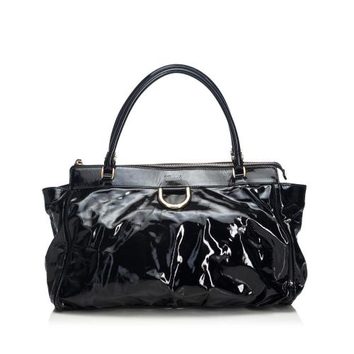 e0f6568af Gucci Patent Leather Abbey Satchel