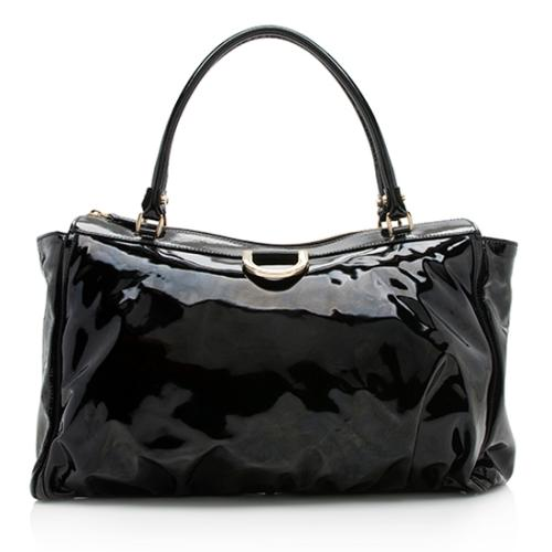Gucci Patent Leather D Ring Tote