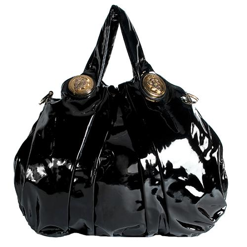 Gucci Patent Leather Hysteria Large Top Handle Tote