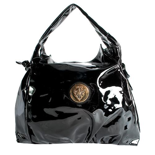 Gucci Patent Leather Hysteria Medium Hobo Handbag