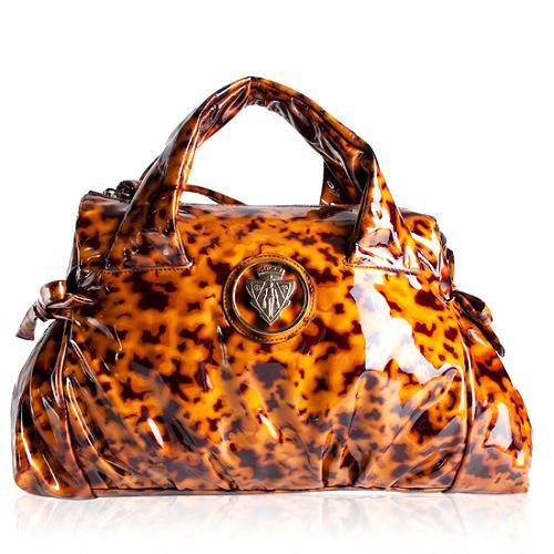 Gucci Patent Leather Hysteria Satchel Handbag