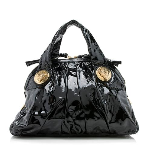 Gucci Patent Leather Hysteria Top Handle Satchel