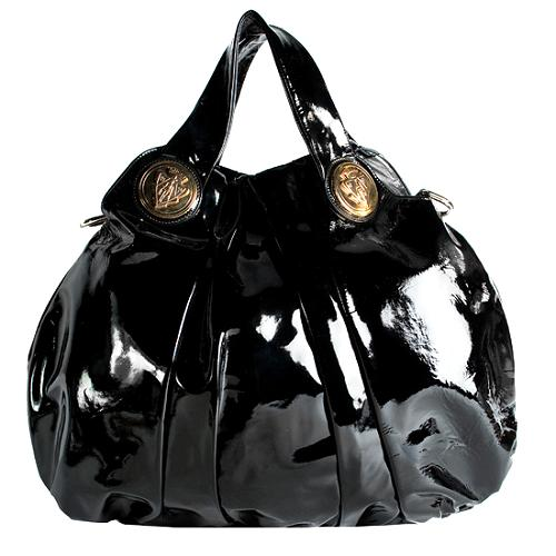 Gucci Patent Leather Hysteria Top Handle Tote