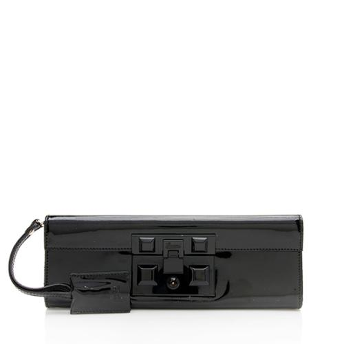 Gucci Patent Leather Padlock Clutch