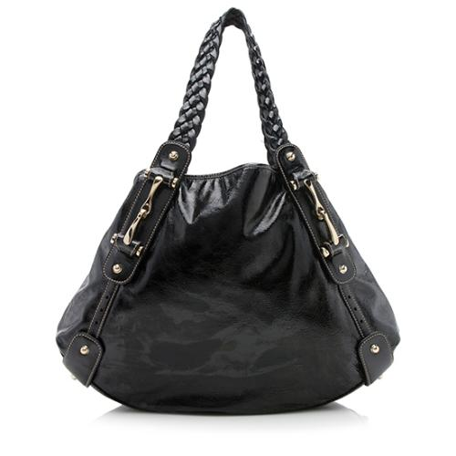 Gucci Patent Leather Pelham Medium Shoulder Bag