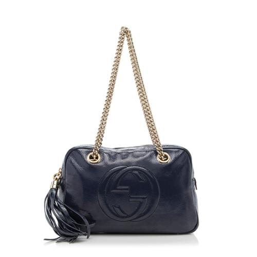 ffea626ce53bb Gucci-Patent-Leather-Soho-Chain-Small-Shoulder-Bag 88272 front large 0.jpg