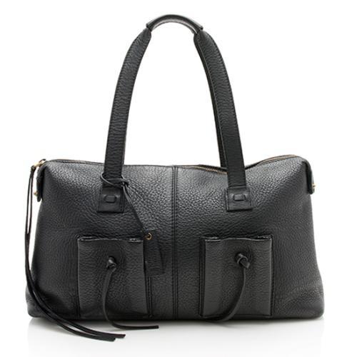Gucci Pebbled Leather Pocket Shoulder Bag
